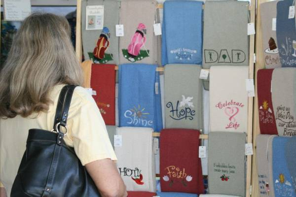 Shopping at the Craft Fair