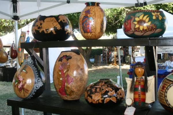 Gourd art at Gourdstock