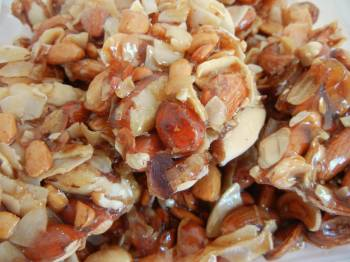 Mixed Nut Brittle with Coconut 12 oz.